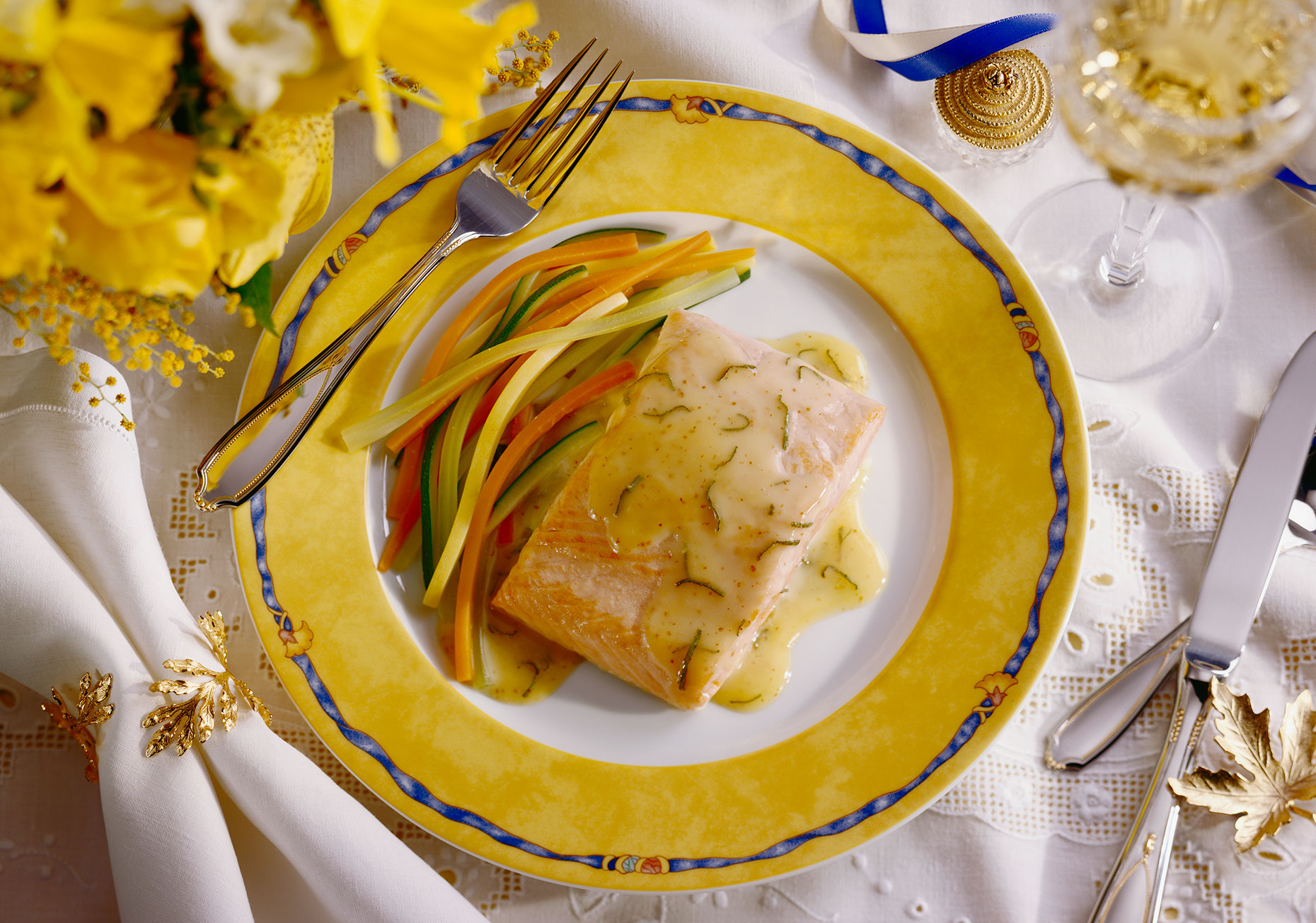 Salmon-Yellow-Plate